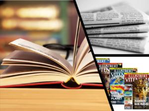 Åpen bok, aviser og tidsskrifter