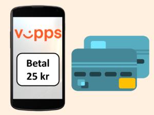 Vipps-logo og pengebeløp på mobiltelefon