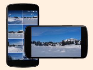 To mobiltelefoner i bildevisning