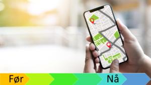 Kart på smarttelefonen