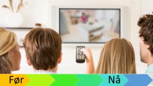 Mennerker som ser på TV